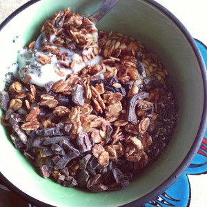 my first DIY granola.